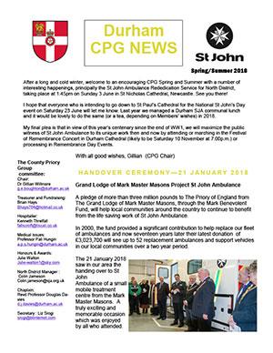 DurhamCPG Newsletter - Spring 2018